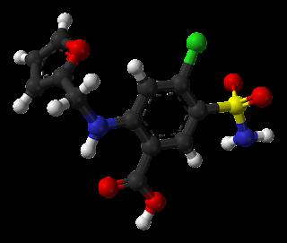 frusemide,diuretic, 3d structure