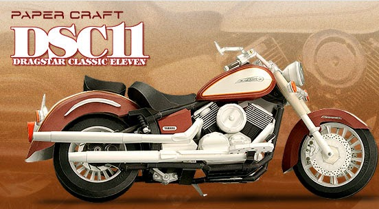 Motorcycles - DSC11 Papercraft DRAGSTAR CLASSIC ELEVEN