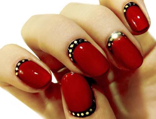 Decoração de unhas vermelhas