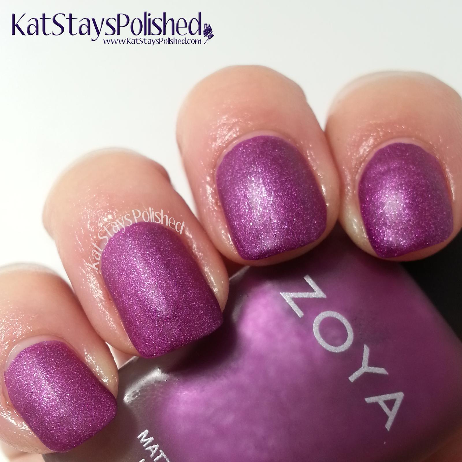 Zoya Matte Velvet - Harlow | Kat Stays Polished