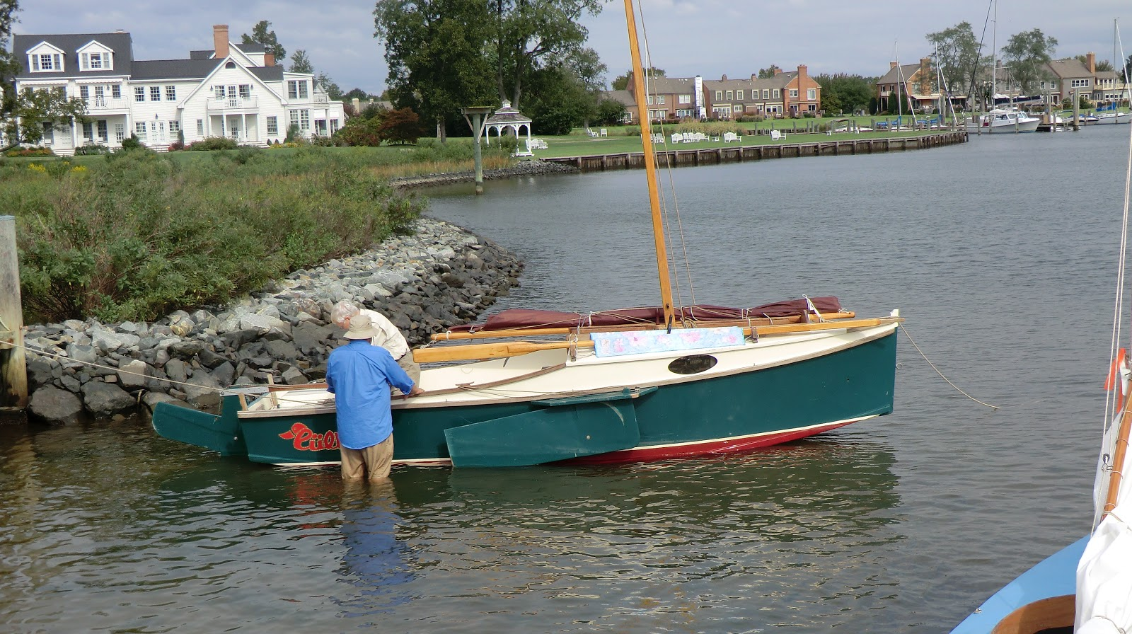 帆船 浅吃水的490级帆船