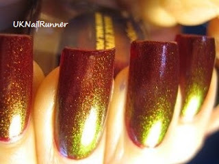 Max Factor Fantasy Fire over OPI Smittem witth Mittens
