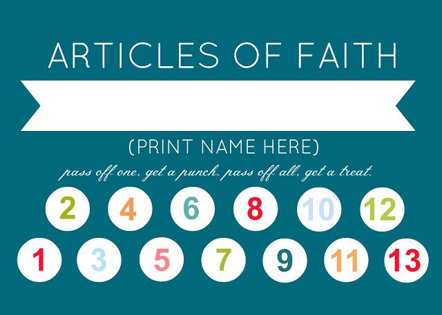 Article of Faith Punch Card