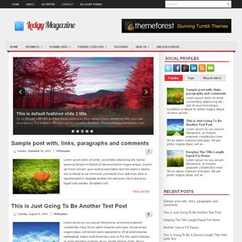 Ledgy blog template. magazine blogger template style. magazine style template blogspot