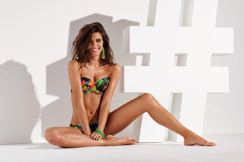 Calzedonia Swimwear Spring/Summer 2015 Campaign featuring Sara Sampaio