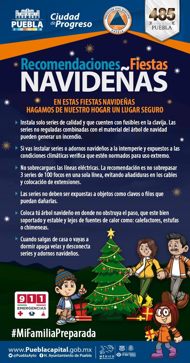 Ayuntamiento de Puebla pide observar medidas de prevención en adornos navideños