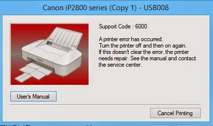 Mengatasi Error 6000 Canon Pixma IP 2870