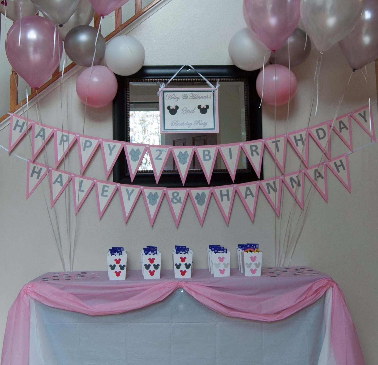 Notes By Sherry The Twin S 2nd Birthday Party Minnie Mouse Themed