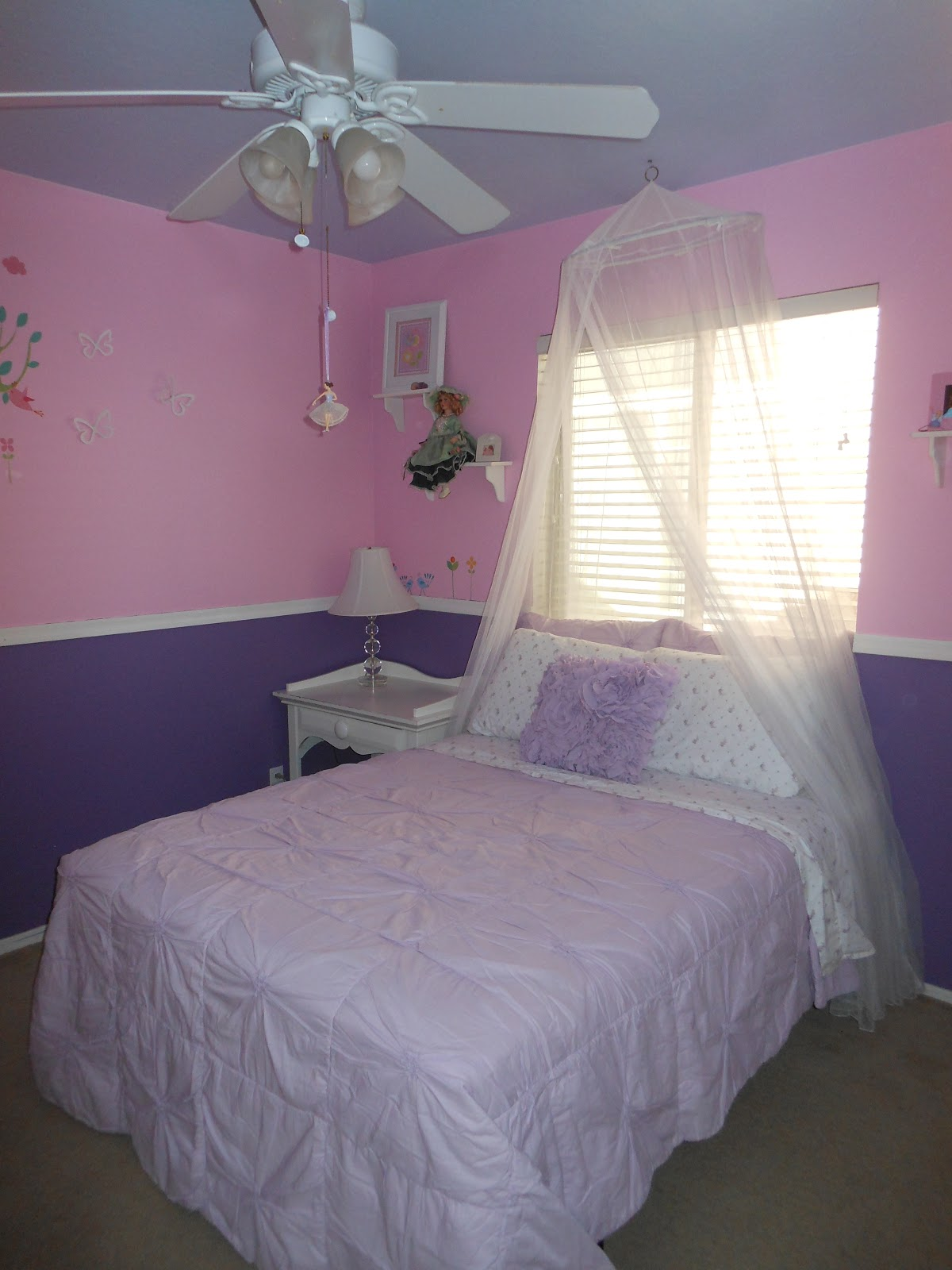 Pink and purple girls bedroom crafty cer girl - Purple and pink girls bedroom ...