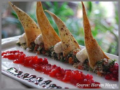 Arabic salad at Harem Meeza restaurant Delhi