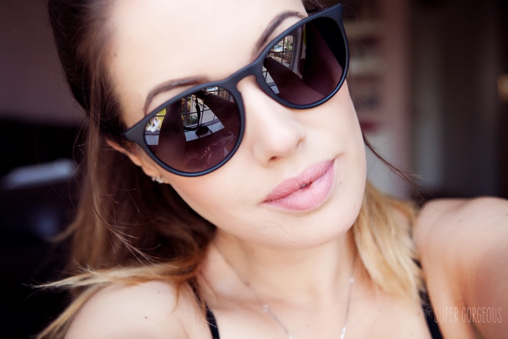 ray ban erika brown havana rubber  rayban+erica+sunglasses+matte+black