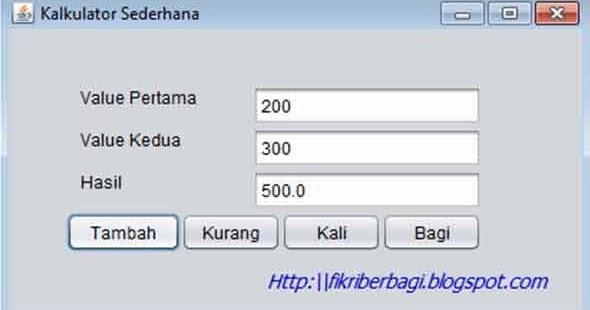 Membuat kalkulator dengan java netbeans ~ M Fikri Setiadi