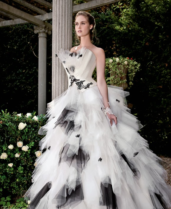 WhiteAzalea Ball Gowns: Ball Gown Wedding Dresses with Black Accents