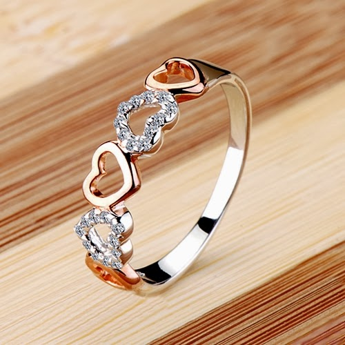 Gorgeous and Romantic Heart Cubic Zirconia Women Ring