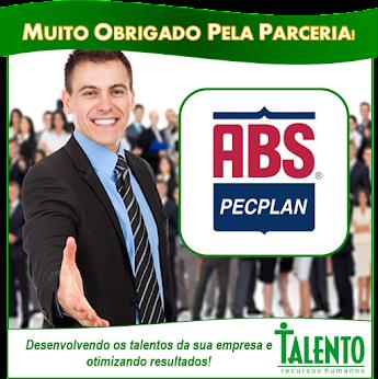 Obrigado ABS PECPLAN pela parceria. Sucesso!!
