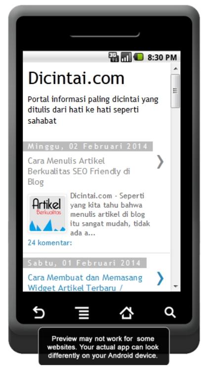 Download Aplikasi Blog Dicintai.com untuk Hape Android, Aplikasi Android Keren, Aplikasi Android Terbaru, Download Aplikasi untuk Blog