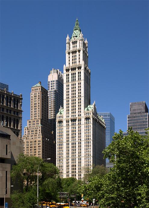 ingeniero estructural gunvald aus company nombres catedral del comercio joya de la corona de wall street tipo rascacielos