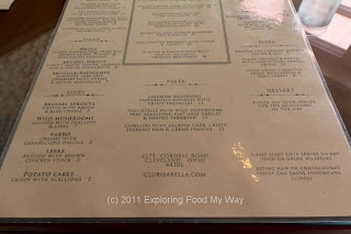 Club Isabella Dinner Menu Bottom