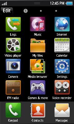 Samsung GT-S8500 Default Theme Free Download Menu