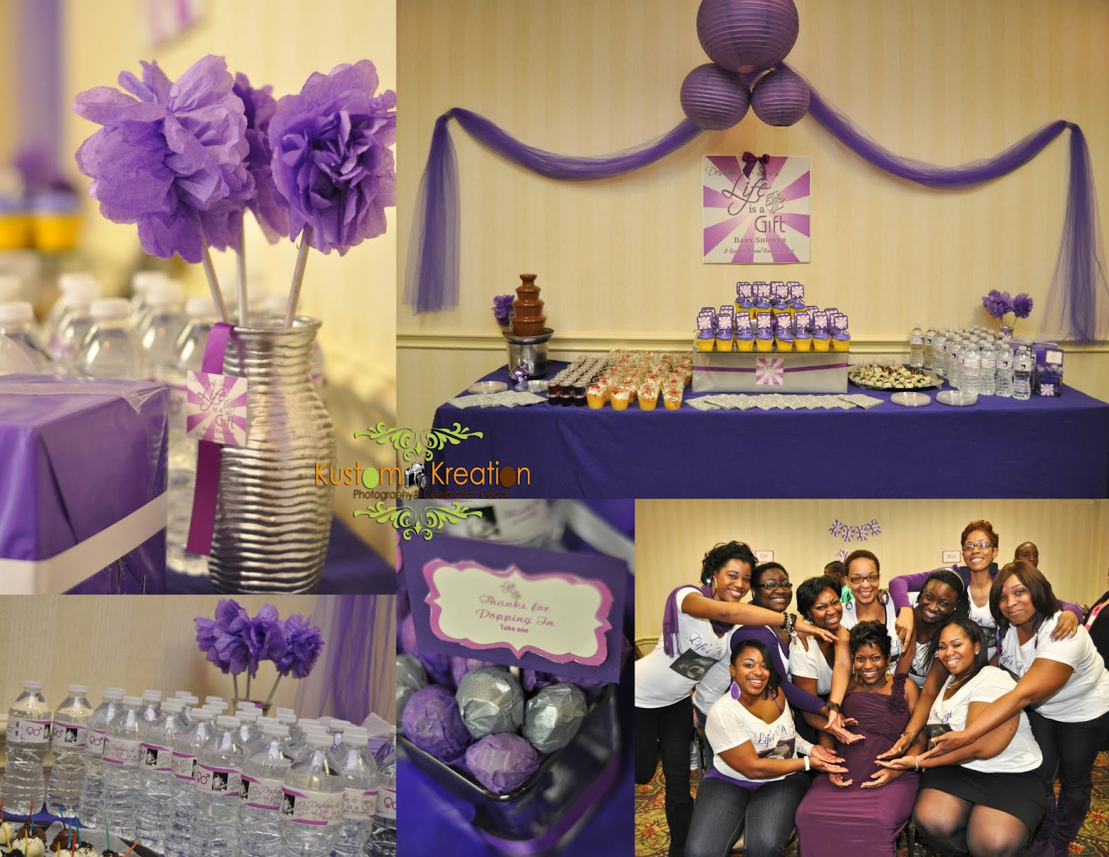 purple baby shower themes baby shower decoration ideas