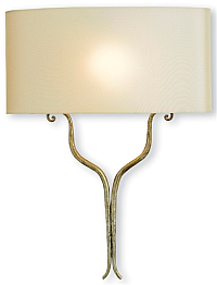 modern silver wall sconce