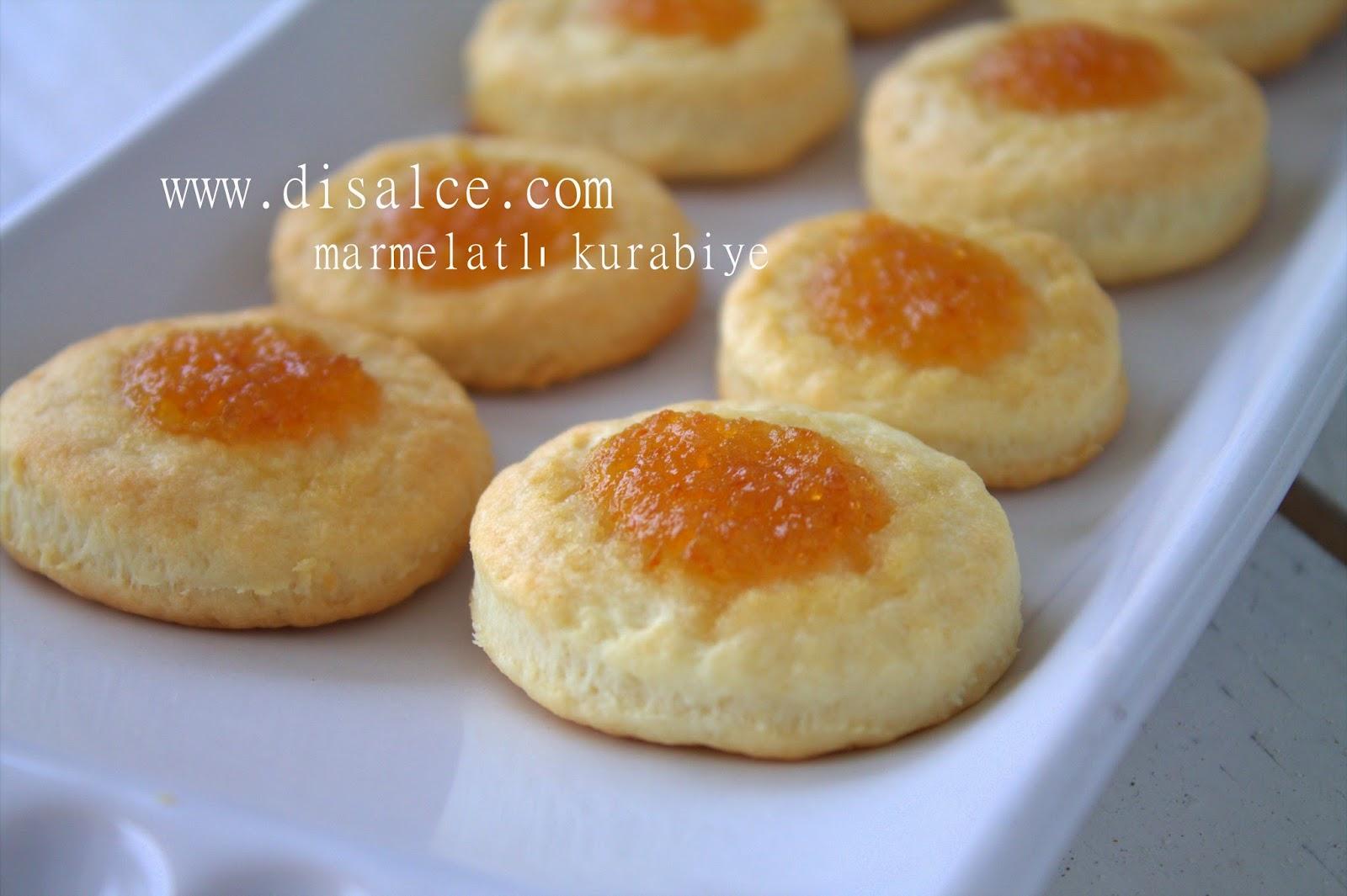 minik marmelatlı kurabiyeler