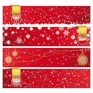 華やいだクリスマス バナー festive christmas banner vector イラスト素材2