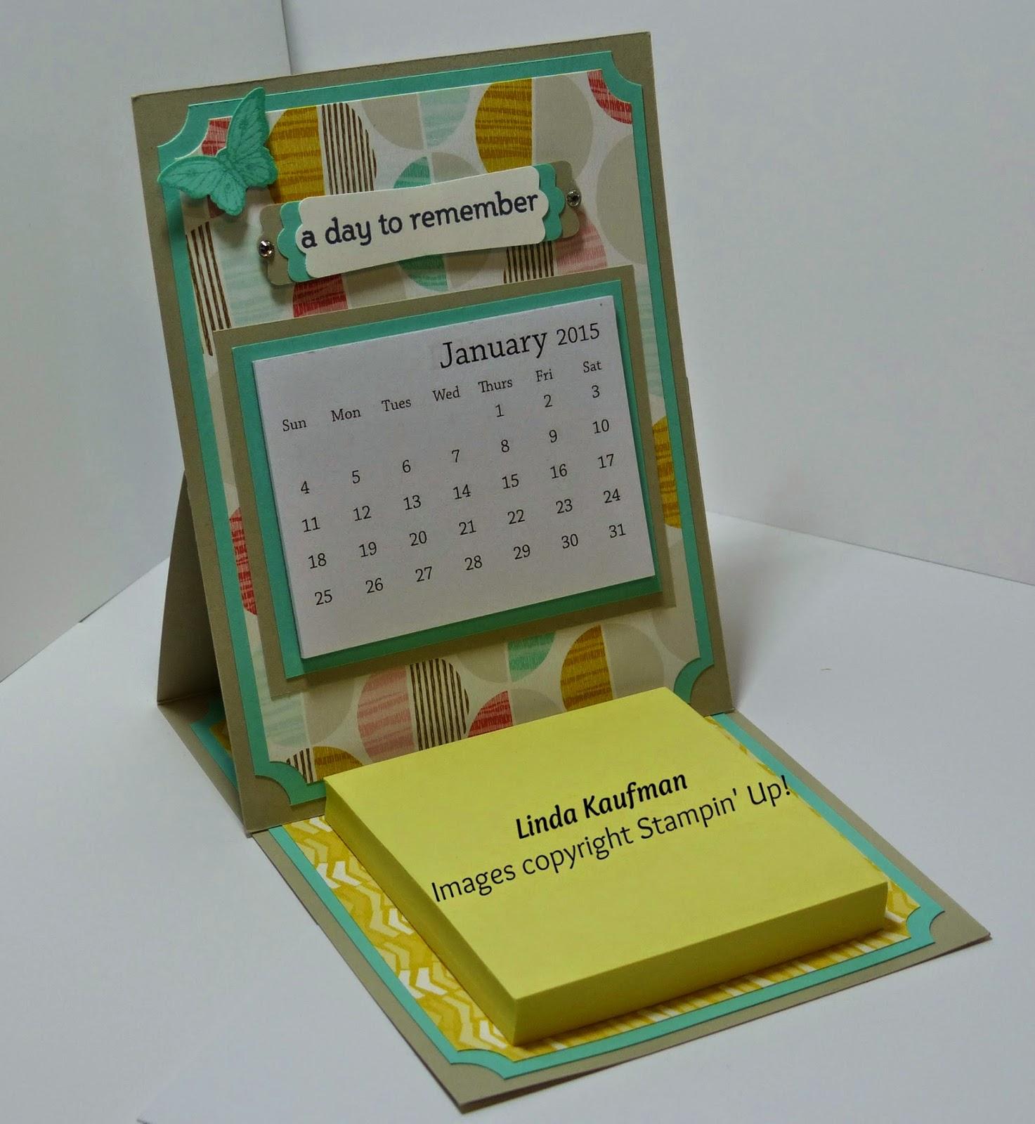 Stampin Up Calendar Ideas : Linda k s stampin page january