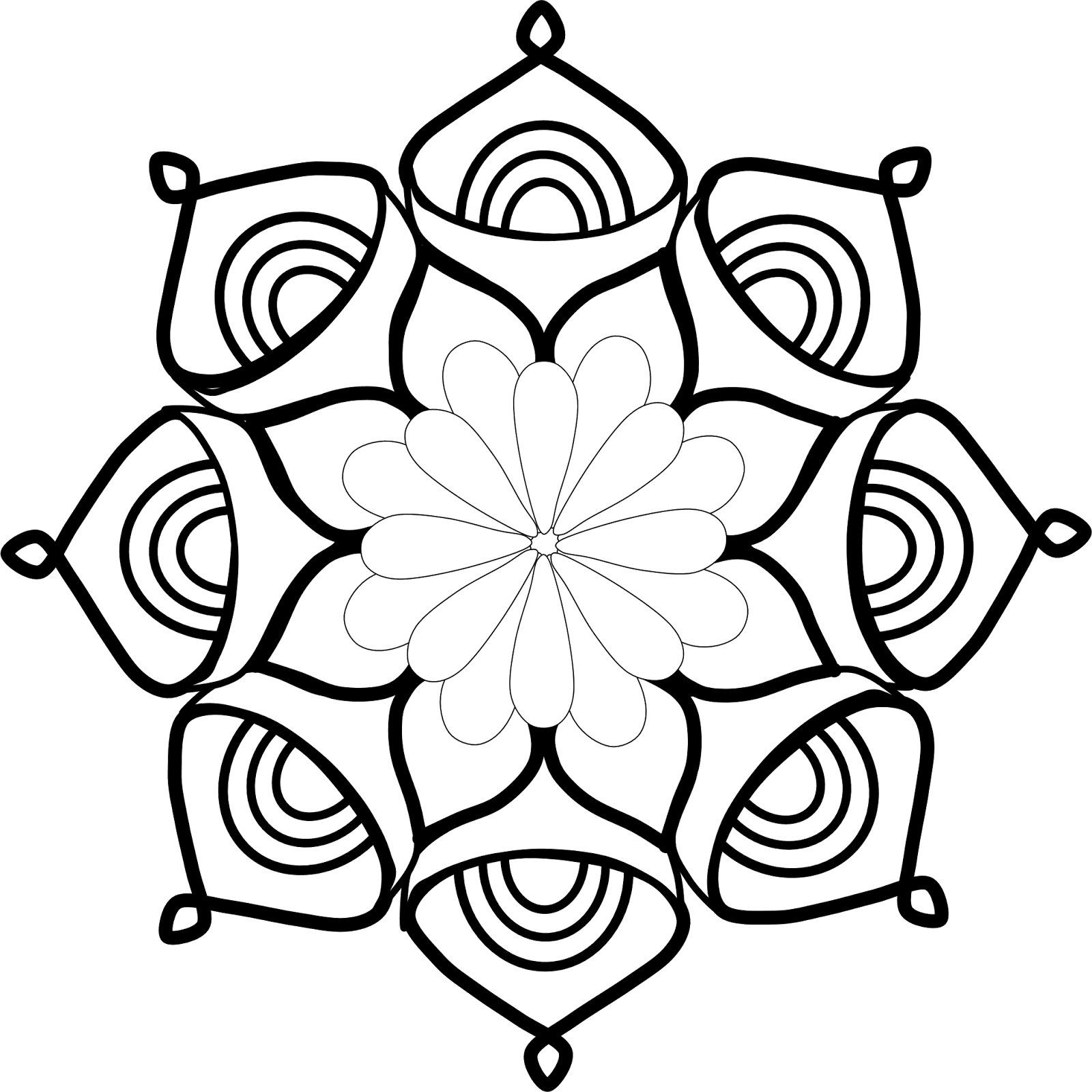 Image Result For Mandala Pages To