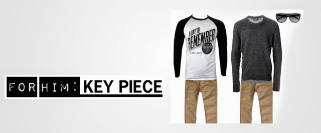 For Him - Key Piece calça bege