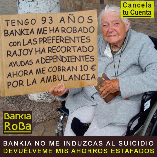 Clienta anciana desahuciada, estafada por preferentes de bankia, rebajada de pensión por Rajoy y ahora la toca pagar la ambulancia