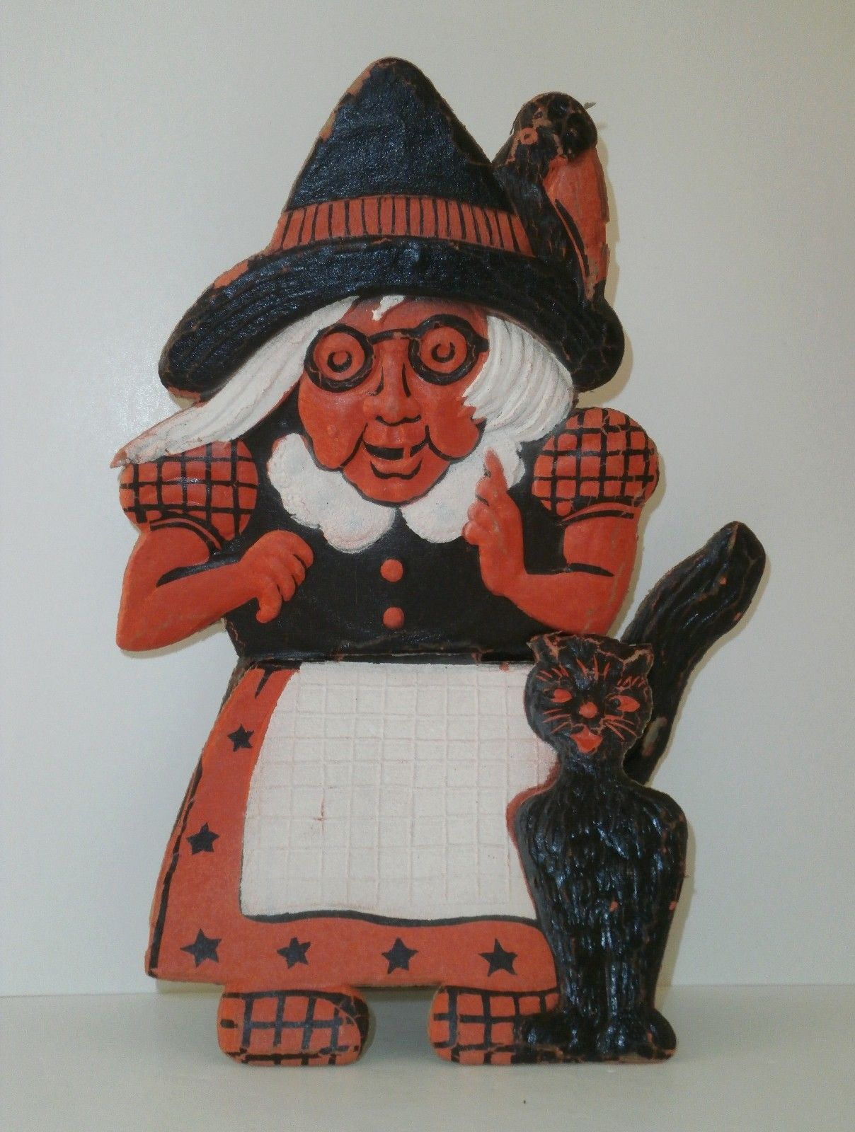 Vintage halloween paper decorations - German Embossed Paper Decoration Possibly Dates From 1920s To The 1960s