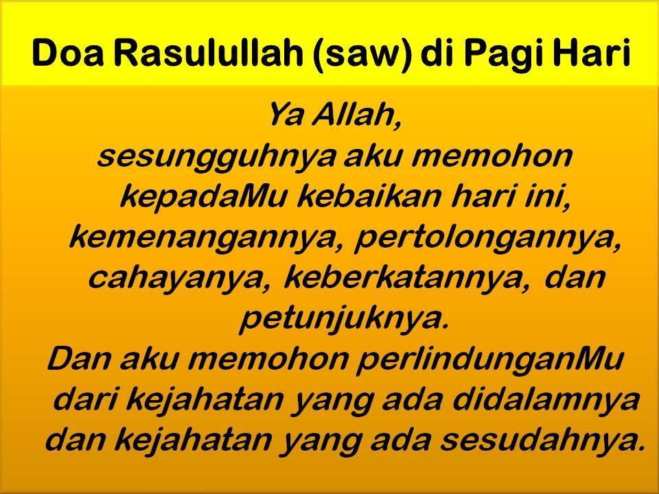 Doa Rasulullah s.a.w Di Pagi Hari