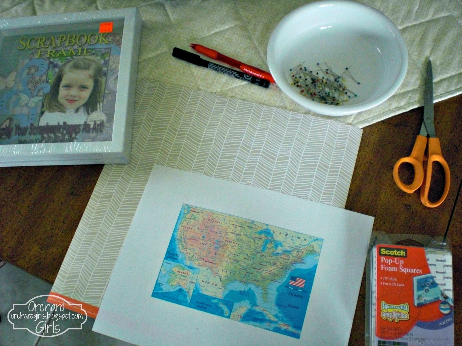 Orchard Girls Print Your Own Map and Mark Your Travels – Mark Your Travels Map