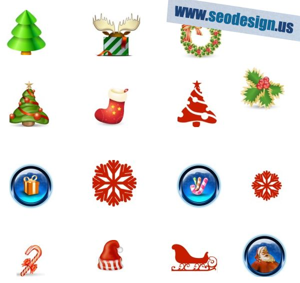 116 Free Christmas PNG Icons Set Pack Download