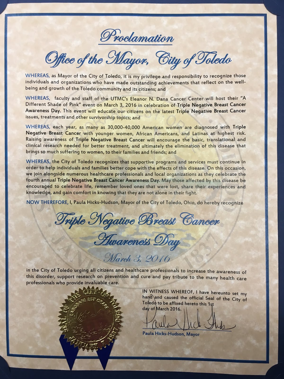 TNBCDay Proclamation
