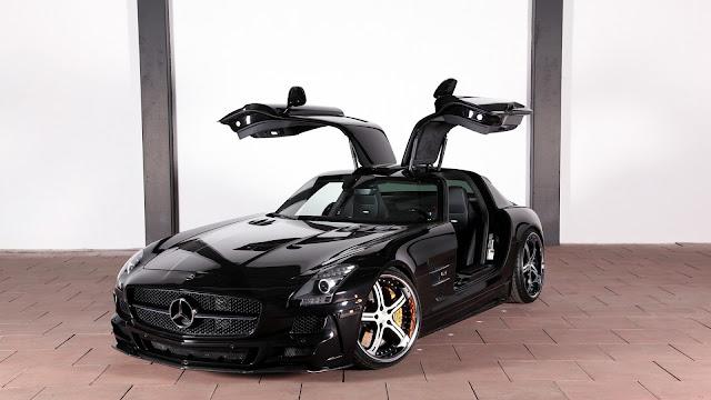 Fondo de Pantalla Mercedes-Benz SLS AMG Negro