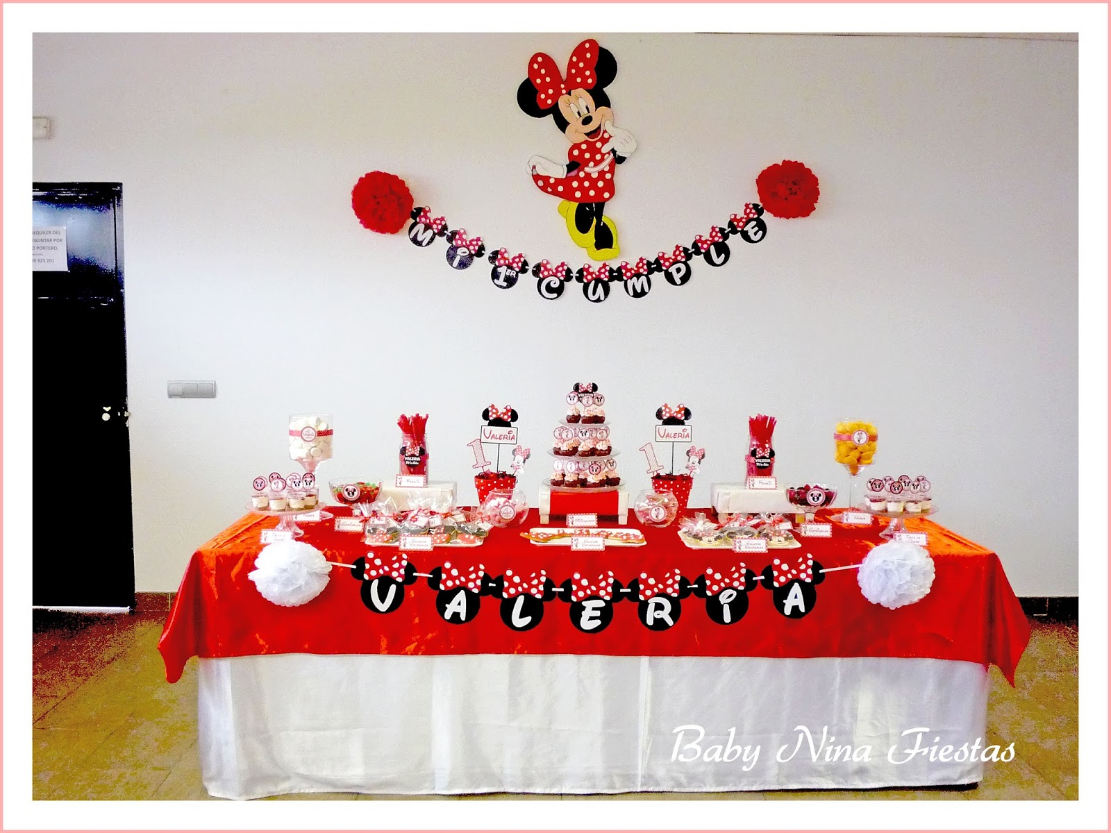 Decoracion Minnie Roja ~ Baby Nina Fiestas Fiesta tem?tica Minnie Mouse para el 1er cumple de
