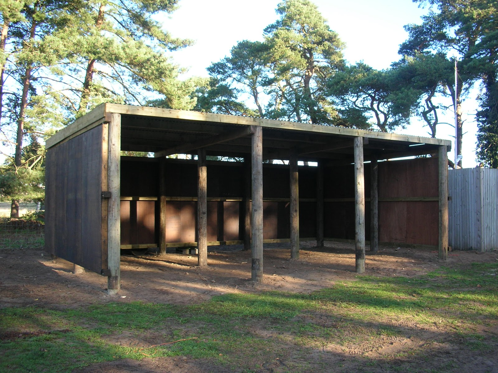 Norfolk wildlife trust building in the brecks for Hay pole barns
