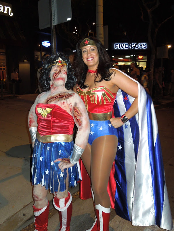 Wonder Woman costumes West Hollywood Halloween