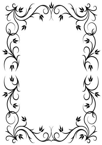 Рамки черно-белые для поздравлений
