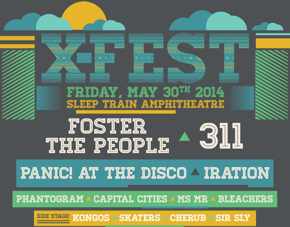 91X Announces X Fest Additions Foster The People MS MR Capital Cities