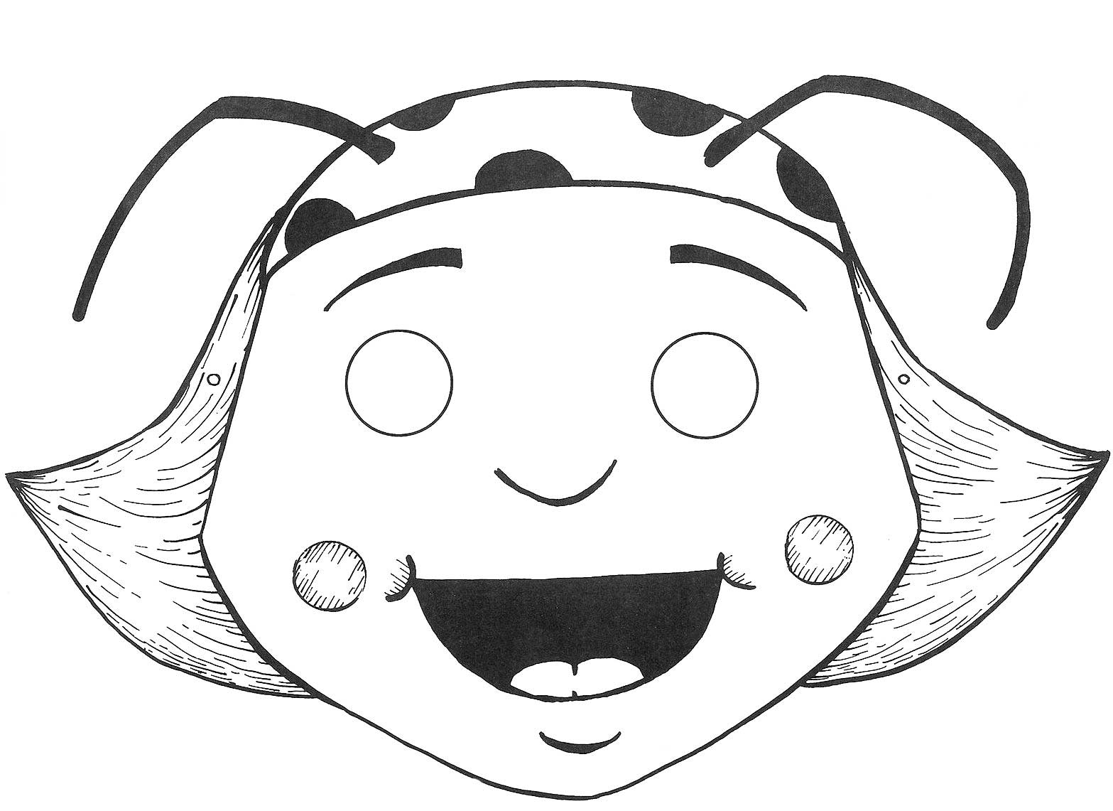 Populares ESPAÇO EDUCAR: Máscara da Dona baratinha AV05