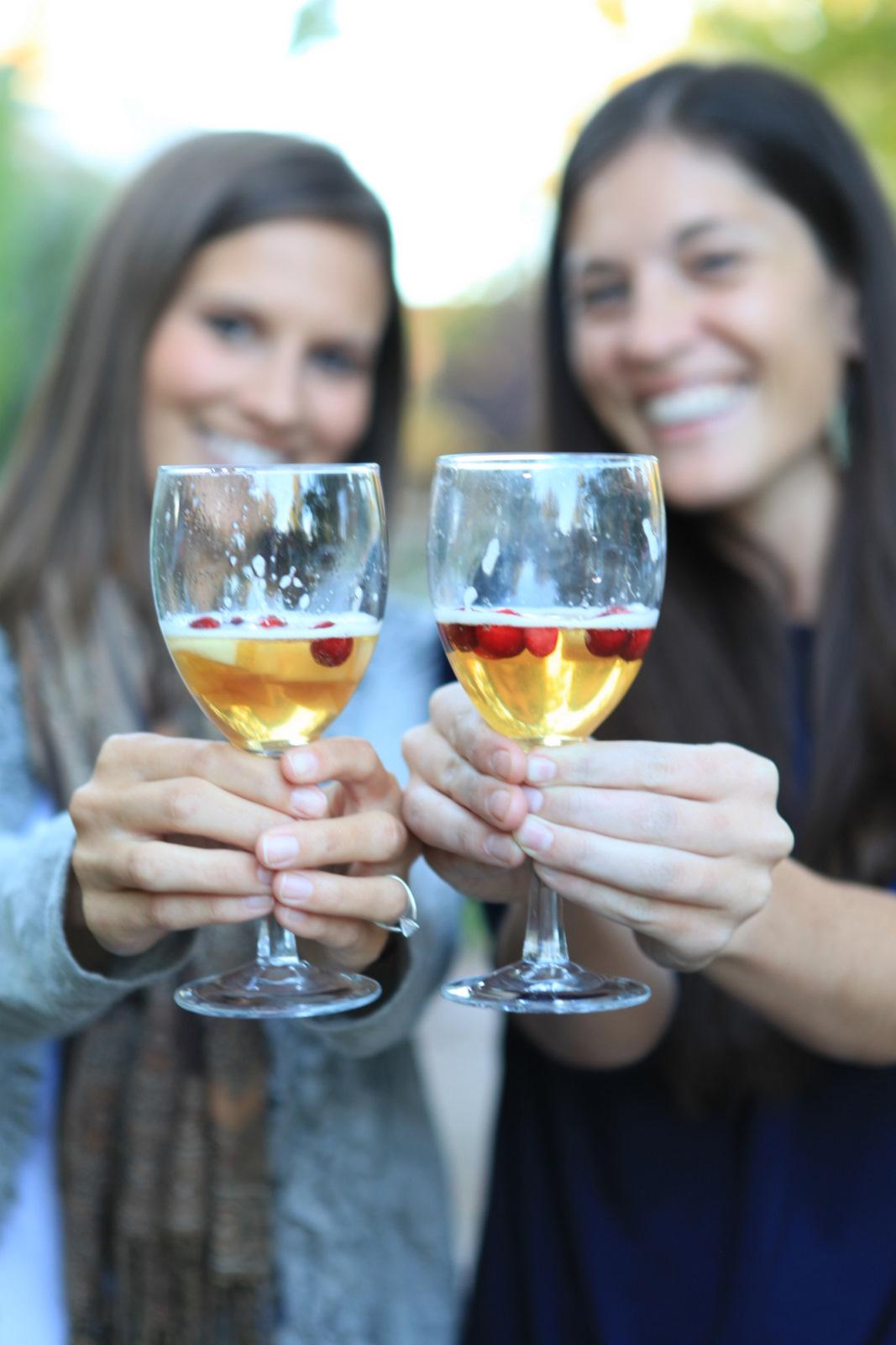 sips etc.: Autumn Pear Cranberry Sparkler