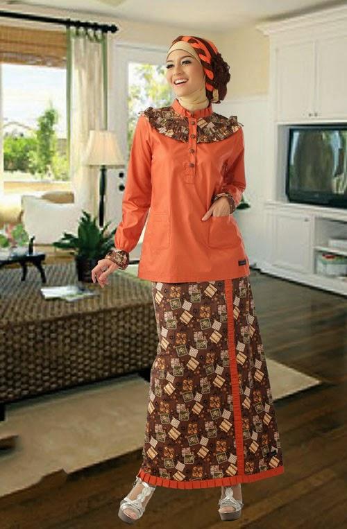 Model Baju Gamis Batik Terbaru 2014 Tutorial Hijab