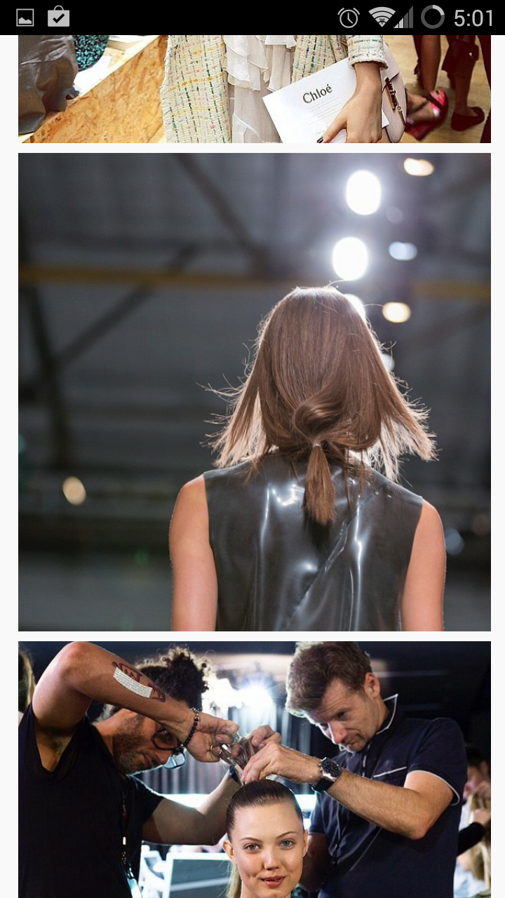 Fashion week 2015 ponytail with soft moveable texture