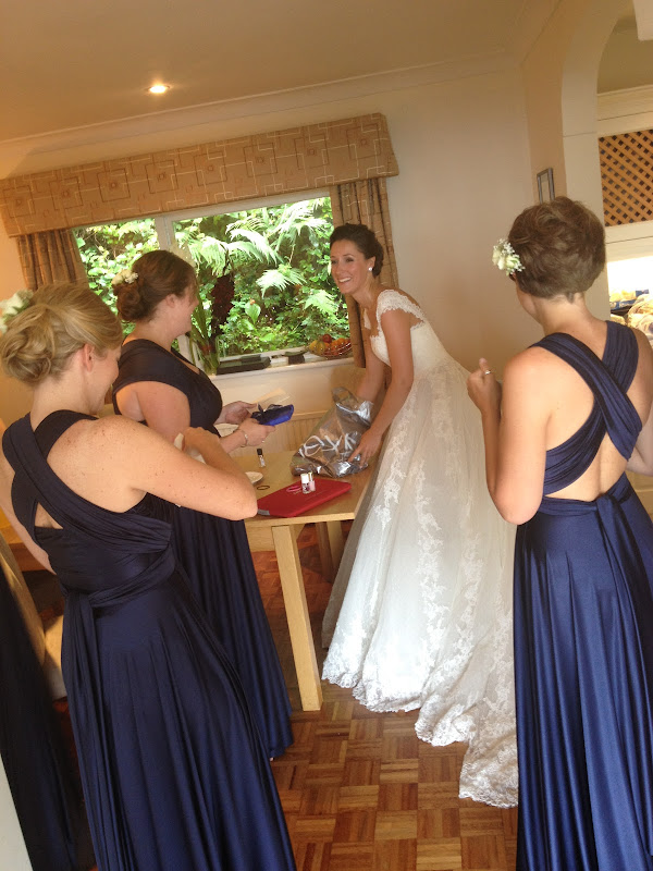 loved the style of the bridesmaids dresses, the 'Two Bird' dresses  title=