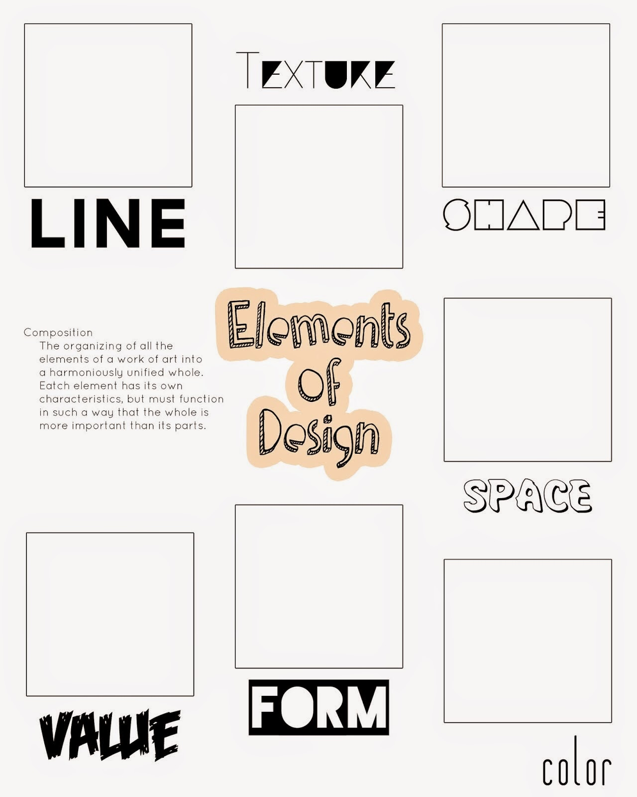 Elements And Principles Of Art Worksheet : Artimus prime th elements and principles of design unit