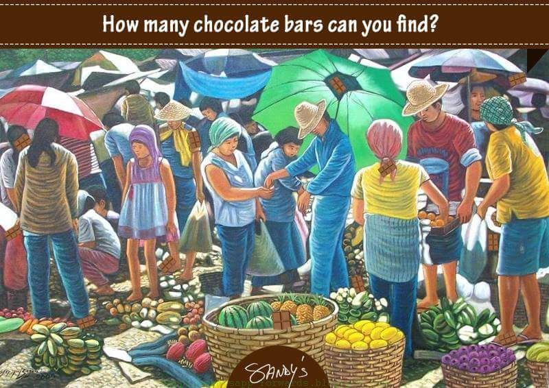 How many Chocolate Bars can you Find ?