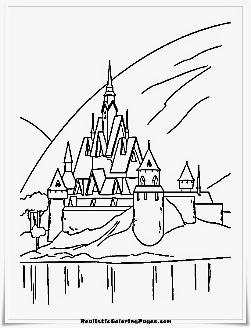 frozen coloring pages ice castle